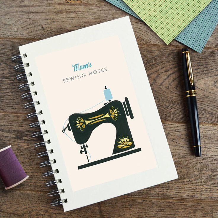 personalised sewing machine notebook by made by ellis | notonthehighstreet.com