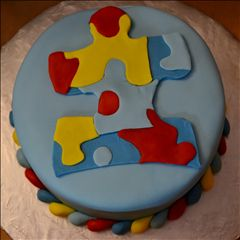Cake Decorated By Girl With Autism : 1000+ images about Autism cupcake cakes on Pinterest ...