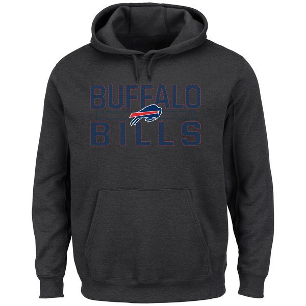 Buffalo Bills Majestic Big & Tall Kick Return Pullover Hoodie - Charcoal - $64.99