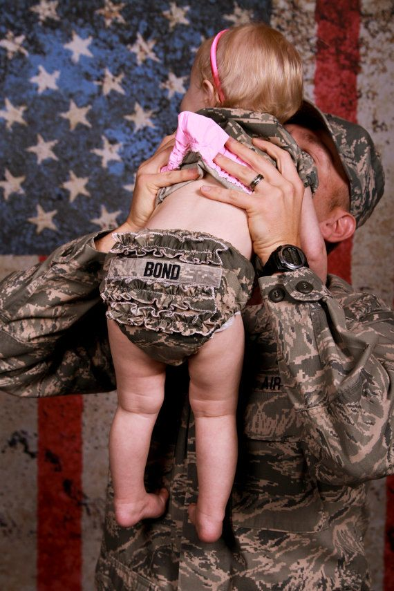 Military Ruffle Diaper Cover, Headband, Hairbow: For the Daughters of my Heroes on Etsy, $24.00