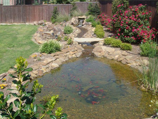 Pond stream design landscape for texas along the for Pond stream design