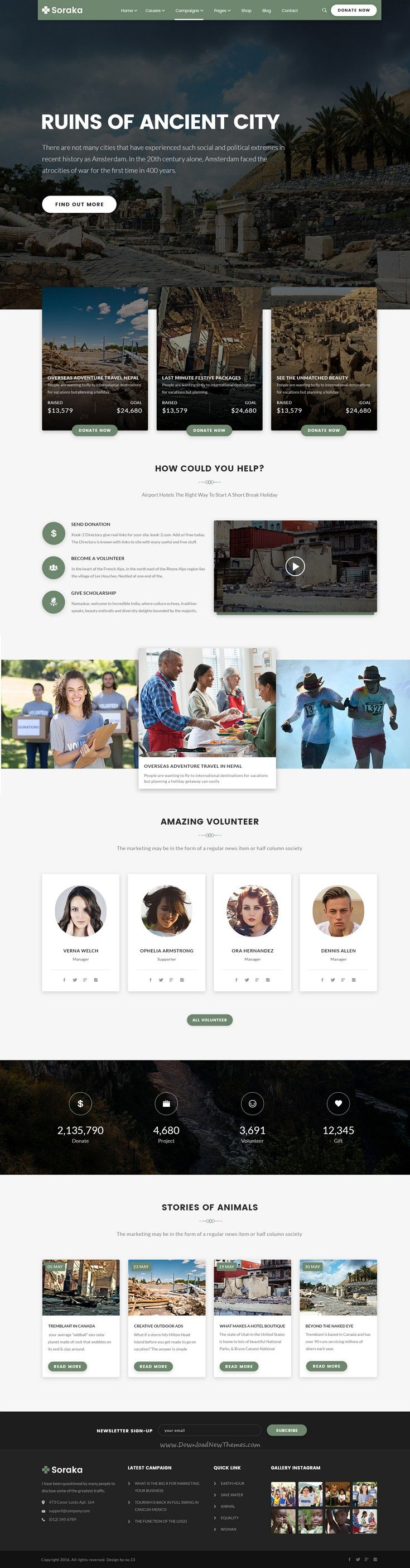 Soraka a special PSD template for #charity, #earthquake, fund raising and non-government #organizations #website. Download Now!