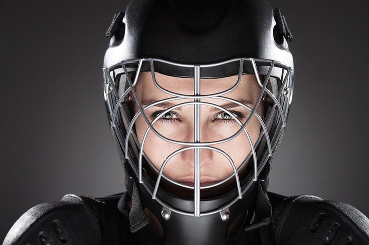A floorball goalie.