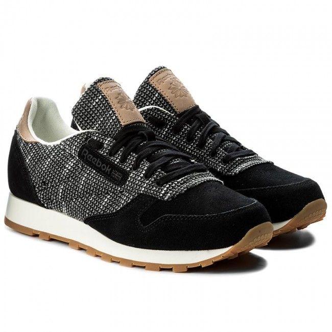 Buty Reebok Cl Leather Ebk Bs6236 Black Stark Gry Sand Stn Leather Reebok Black