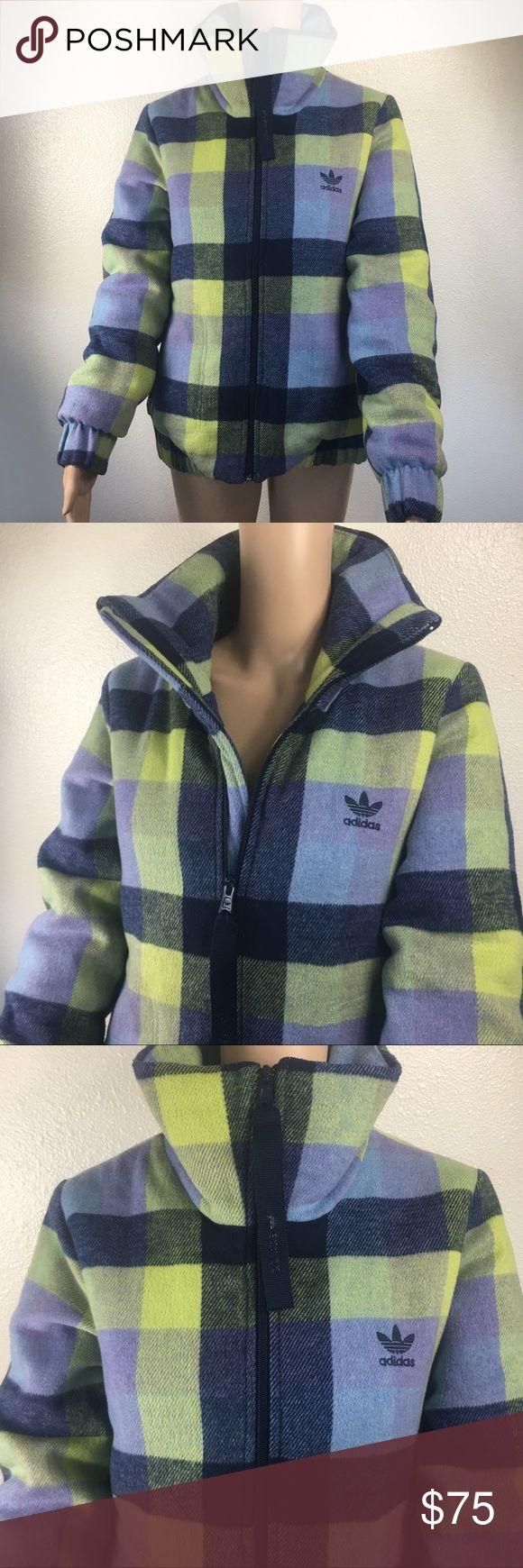 Adidas ORIGINALS wool checked batting jacket Adidas ORIGINALS wool checked batting jacket in EUC 😁 adidas Jackets & Coats