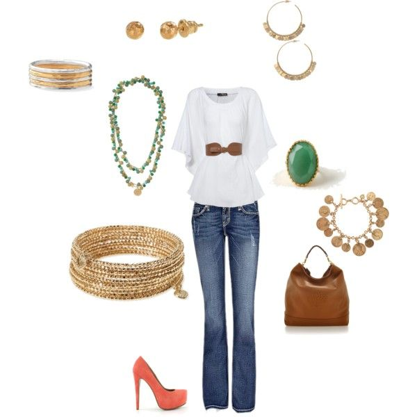 Jade and Gold, created by berrysbest on PolyvorePinterest Style, Outfit Ideas, Fabulous Style, Spring Summe Style, Sassy Women, Perfect Outfit, Fashion Fun, Dreams Closets, Clothing Horses