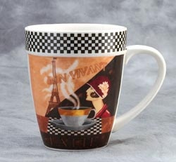 $19.95 Cute coffee mags   Mug has great handle and a 14 ounce capacity. Comes in Sets of 4.