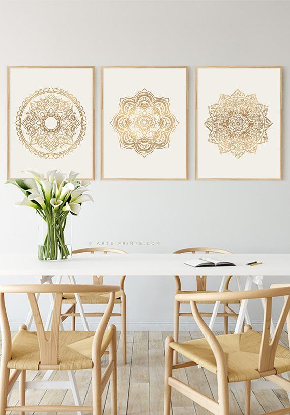 Dine Room Wall Art Set Of 3 Prints Moroccan