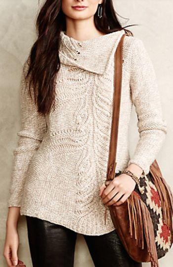 pretty cowl neck sweater #anthrofave http://rstyle.me/n/swb4ir9te