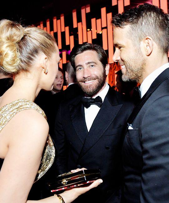 This adorable trio: Jake Gyllenhaal, Blake Lively, Ryan Reynolds.
