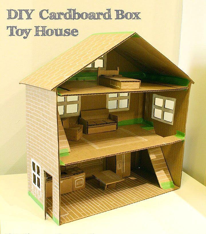 Домик для кукол из картонных коробок