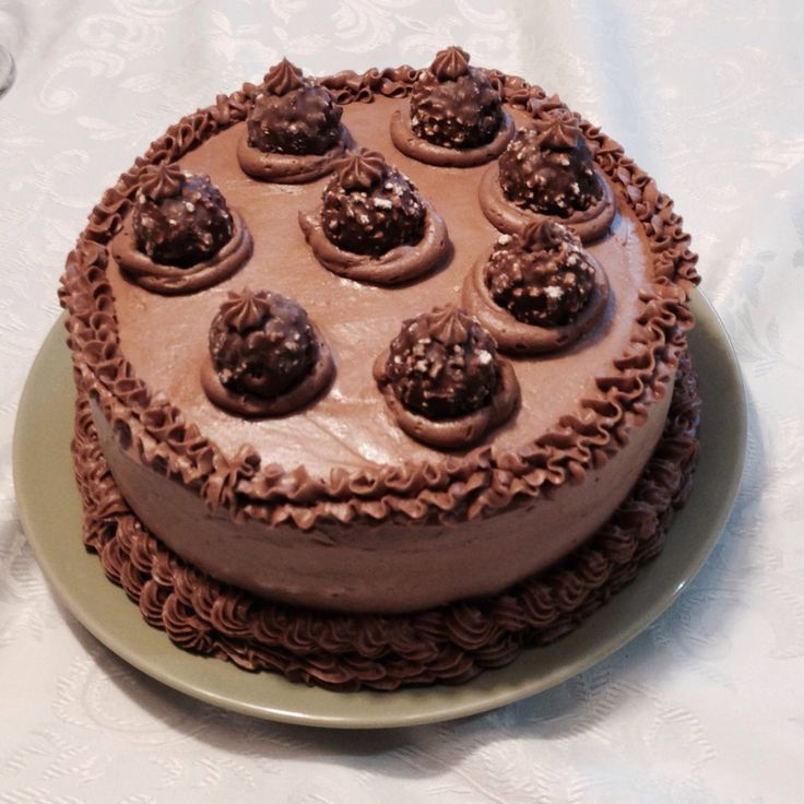 Chocolate cake with Nutella butter cream