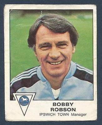 PANINI FOOTBALL 80- #156-IPSWICH TOWN-FULHAM-BOBBY ROBSON