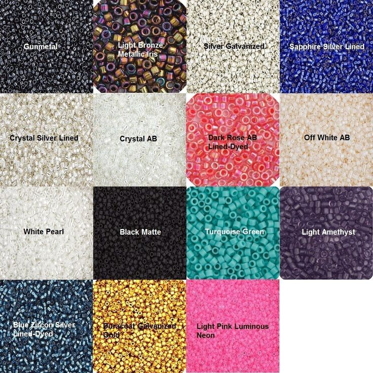Miyuki Delica Beads - 5.2g Vials - Size 11/0 1mm Hole - Various Colors and Syles