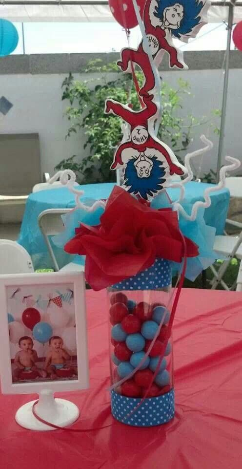 Thing 1 Thing 2 Centerpieces