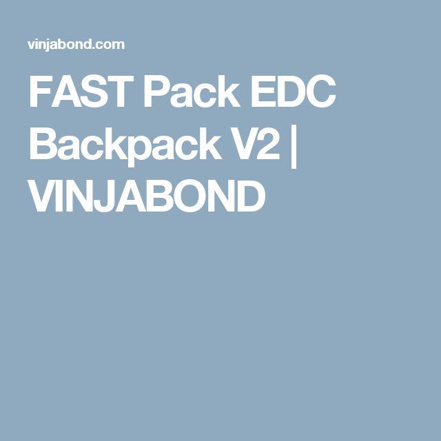 FAST Pack EDC Backpack V2 | VINJABOND