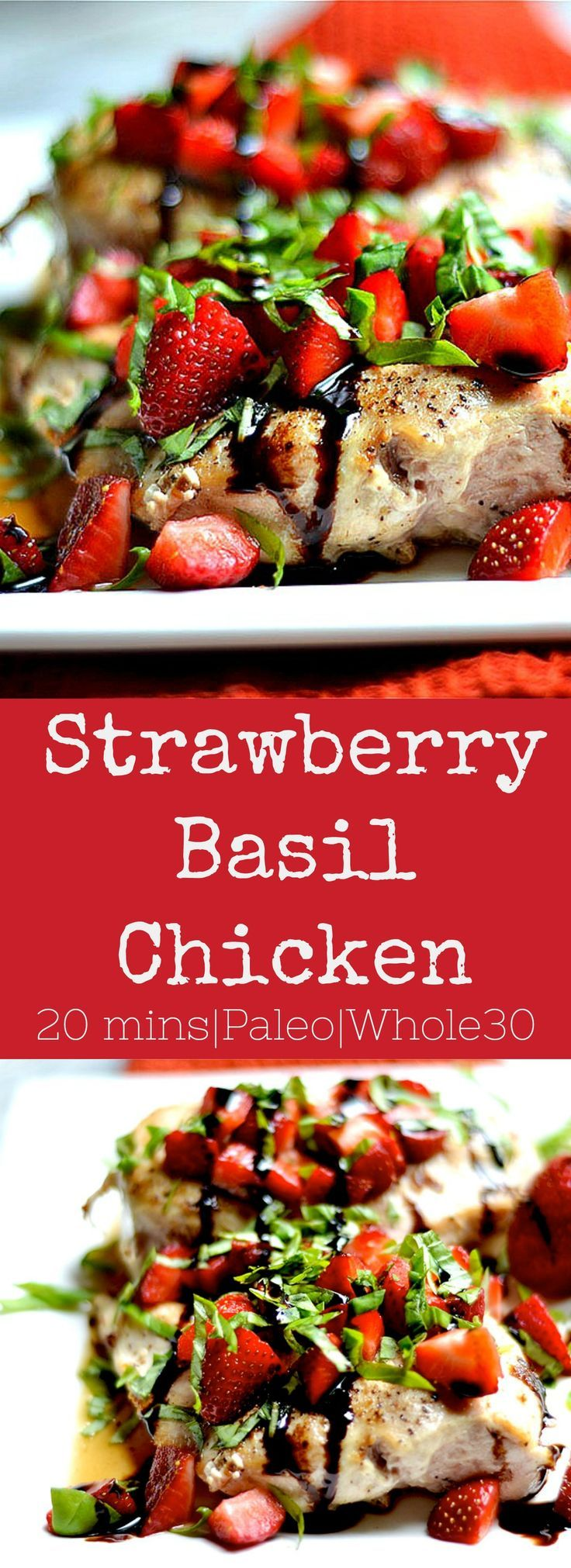 Strawberry Basil Chicken is the easiest recipe with such delicious flavor! Kid-friendly, and perfect for busy weeknights.