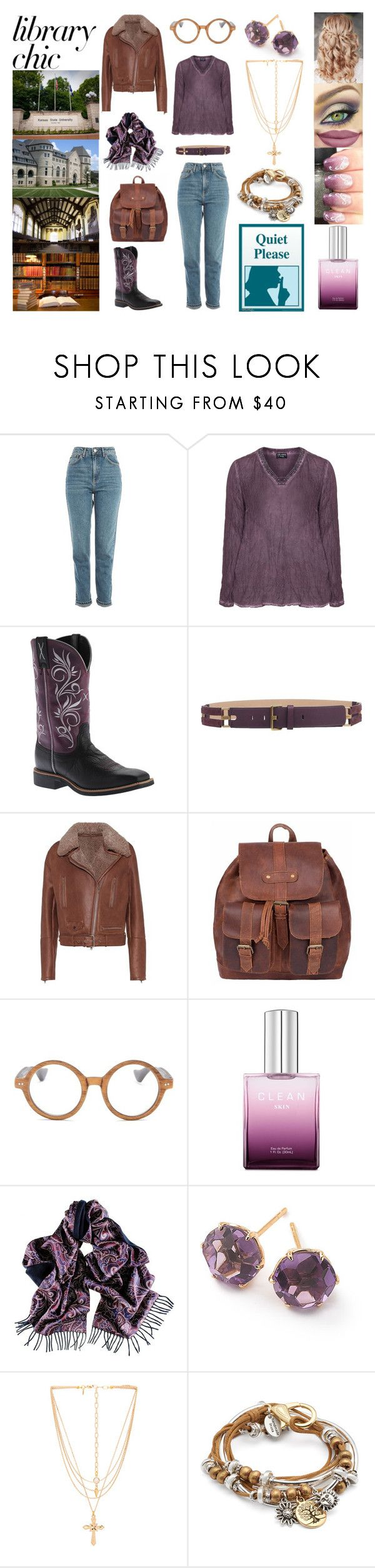 """Casual Library Style"" by bethnjulia ❤ liked on Polyvore featuring Topshop, Twisted X Boots, Tod's, Brunello Cucinelli, Ellen Tracy, Disney, Black, Ippolita, Vanessa Mooney and Lizzy James"
