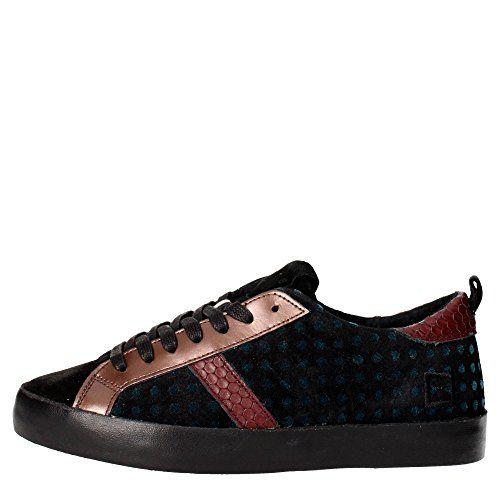 D.a.t.e. HILL LOW Sneakers Damen Leder/wildleder Schwarz/braun Schwarz/braun 39