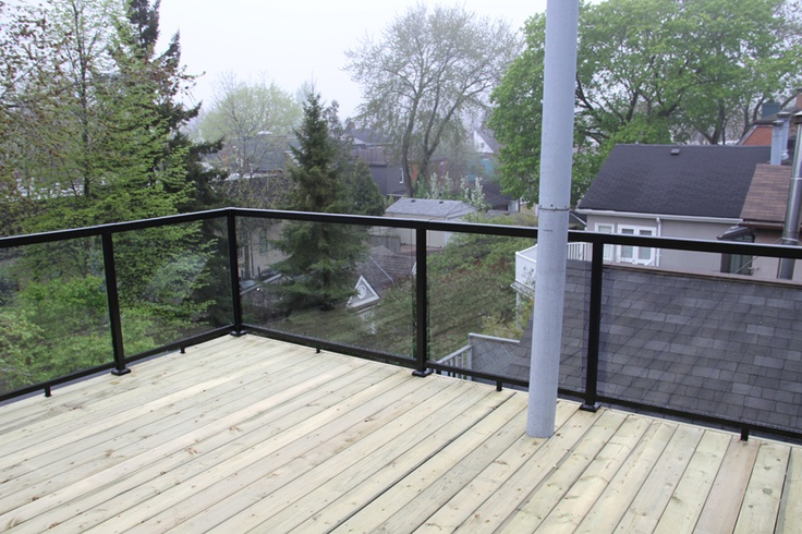 Put Railing On Deck Not Into Flat Roof Flat Roof Deck
