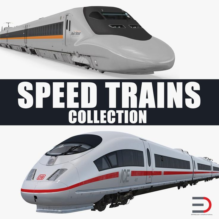 3D model Speed Trains Collection