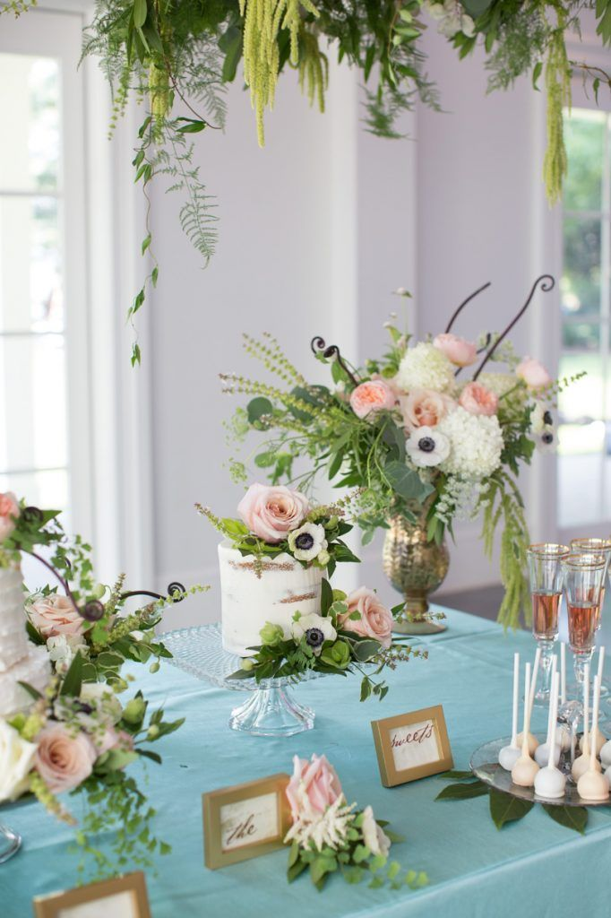 Nc Floral Dessert Table Inspiration Southern Bride And Groom Magazine Floral Dessert Table Dessert Table Decor Dessert Table