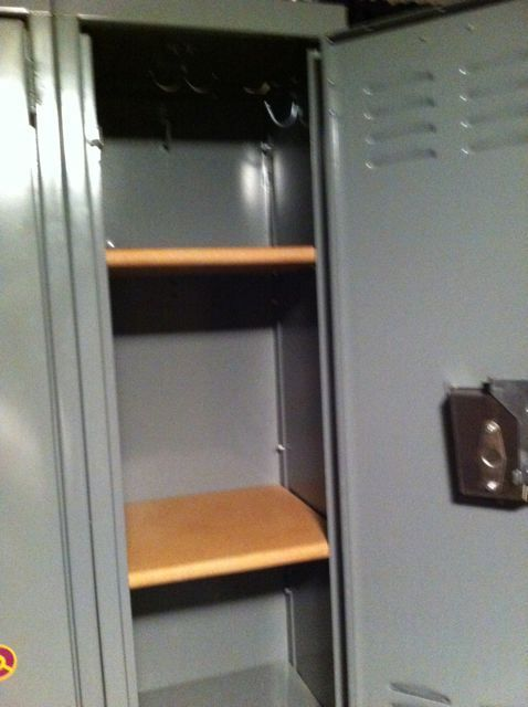 Locker shelves. From boards.
