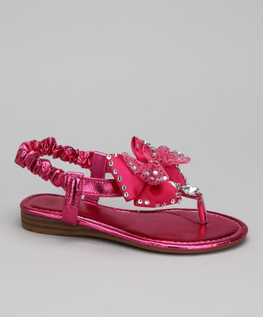 Take a look at this Fuchsia Like Sandal by Carrie on #zulily today!