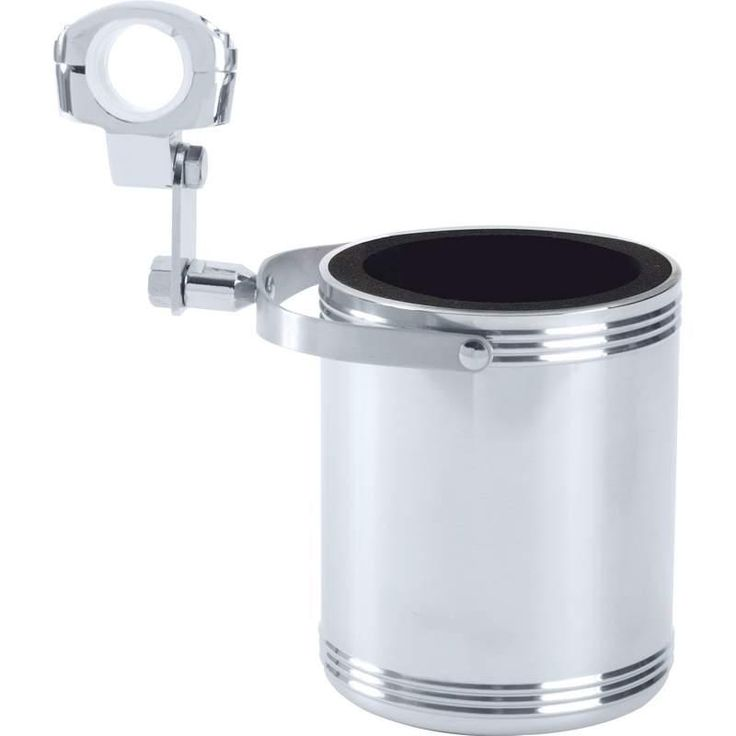 Diamond Plate Large Stainless Steel Motorcycle Cup Holder