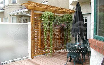 1000 ideas about deck privacy screens on pinterest for Hanging patio privacy screen