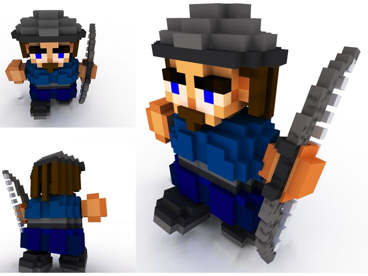Voxel Character  We developed in house software to design voxel characters/items/inventory/worlds etc.