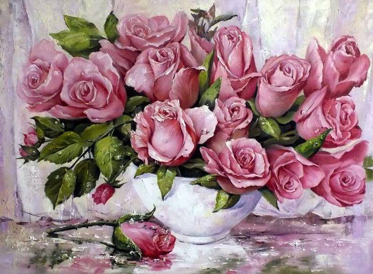 Прекрасная цветочная живопись Татьяны Кулигиной. Обсуждение на LiveInternet - Российский Сервис Онлайн-Дневников