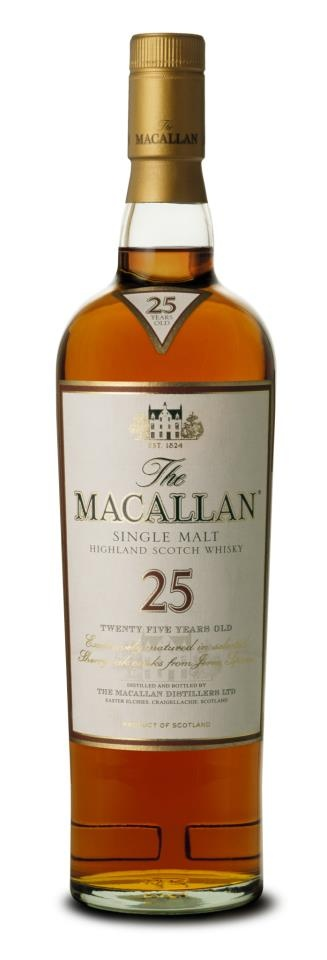 Macallan 25 - nothing more to say! L. wants to share a drink with each wedding guest (who is of age and interested in drinking scotch - though non-negotiable for wedding party members! throughout weekend, not as reception)