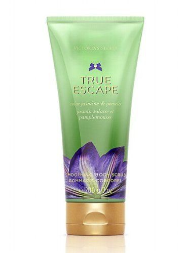 Victoria Secret Vs Fantasies True Escape Body Scrub by Victoria's Secret. $7.51. Make a True Escape in pure solar jasmine and juicy pomelo.. 100% Authentic. Size: 6oz. brand new never used or tested. Dual-action sugar scrub gently exfoliates as it purifies. Lather on wet skin, focusing on rough spots, then rinse off for an all-over glow. Skin feels soft, smooth and touchable.