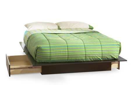 South Shore Soho Full/Queen Platform Bed (54/60'') with 2 drawers, Chocolate for sale at Walmart Canada. Find Furniture online at everyday low prices at Walmart.ca