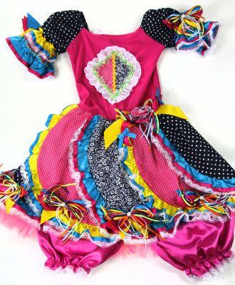 Resultado de imagem para vestido junino infantil luxo  af24a41507f