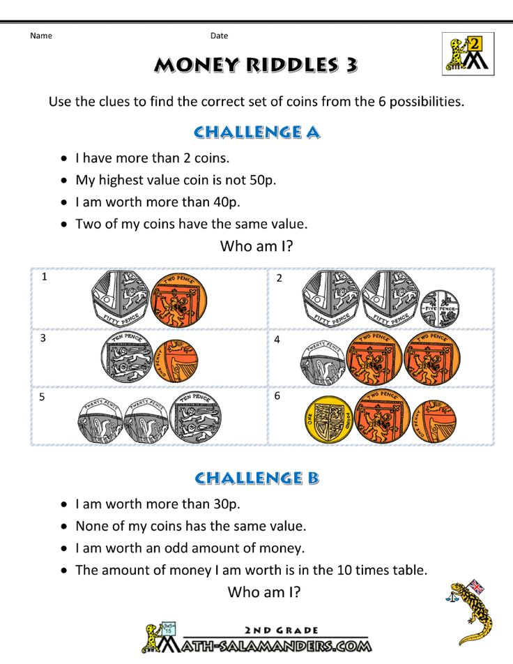 Money Worksheets for Kids - Money Riddles UK | Free ...
