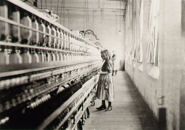 Lewis Hine 1908 Girl Worker in a Carolina Cotton Mill