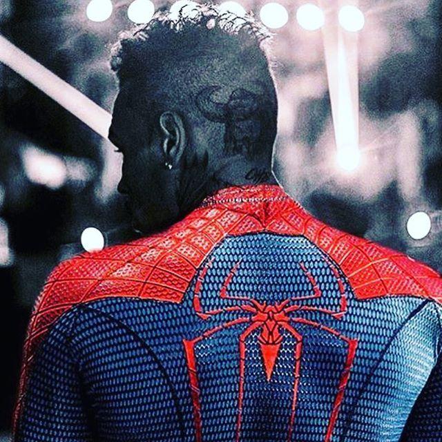 Chris Brown as Spiderman  SILVER AURA INDIGO CHILD