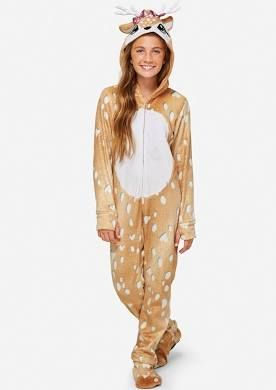89813f1f95ee Justice - Girls Deer Onesie . Tween Girls Extended Sizes sleepwear ...