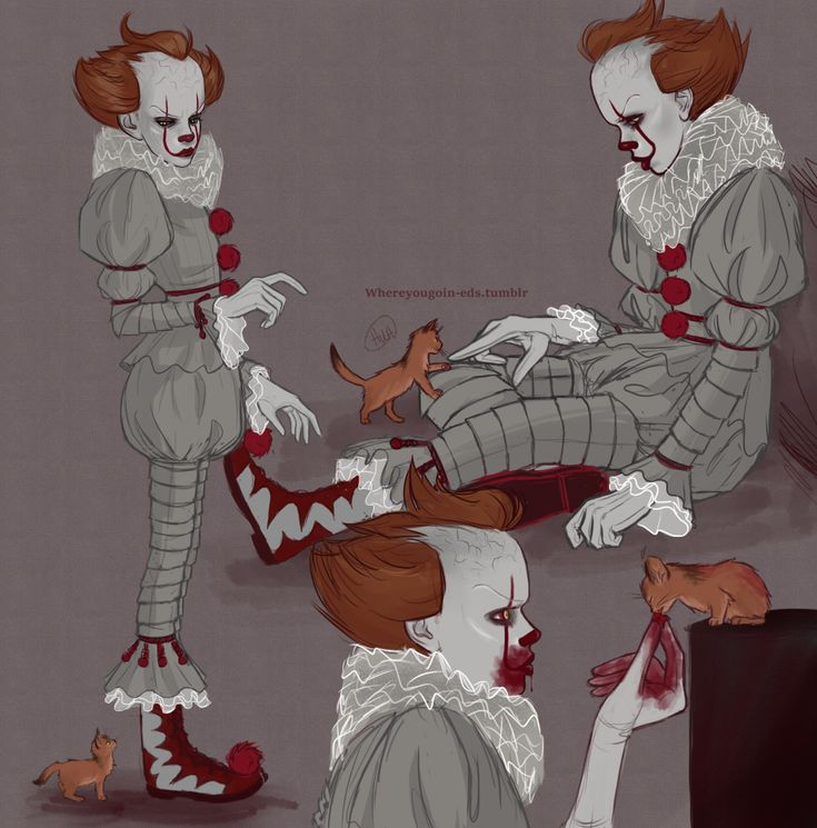 I needed more Pennywise with a kitten/cat content so I drew it my own gotdamn self!!!!!!