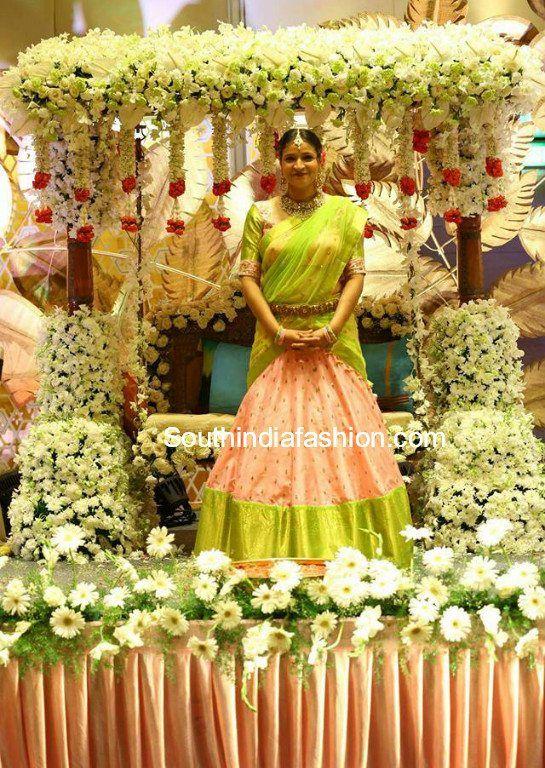 Manjula Ghattamaneni Daughter S Half Saree Function Half Saree