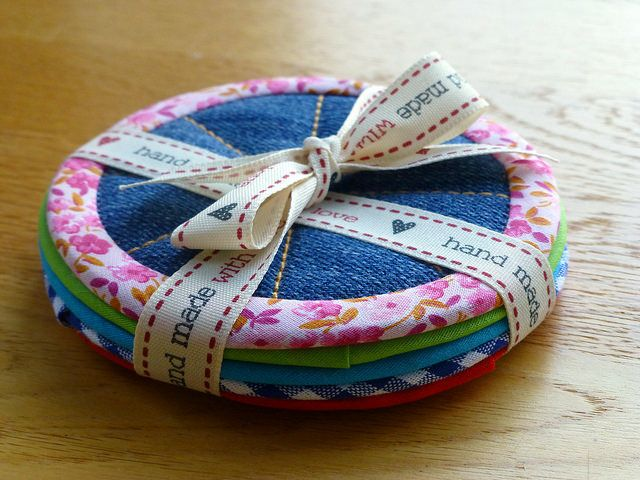 Recycled denim coasters | by Just Jude Designs