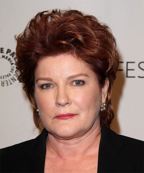 Kate Mulgrew Short Straight Hairstyle - Medium Red (Burgundy)