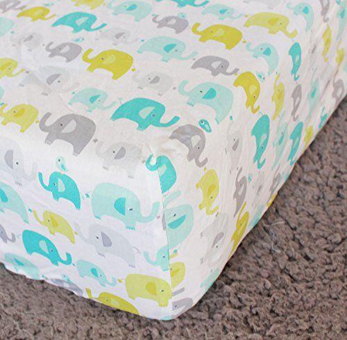 Amazon.com : New Baby Safari Elephant 4pcs Crib Bedding Set (without bumper), 1)…