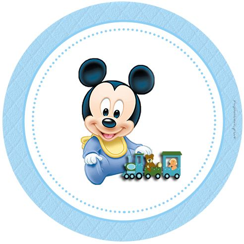 """Personalized """"Mickey Mouse Baby Disney"""" Kit for Print - Simple Digital Invitations"""