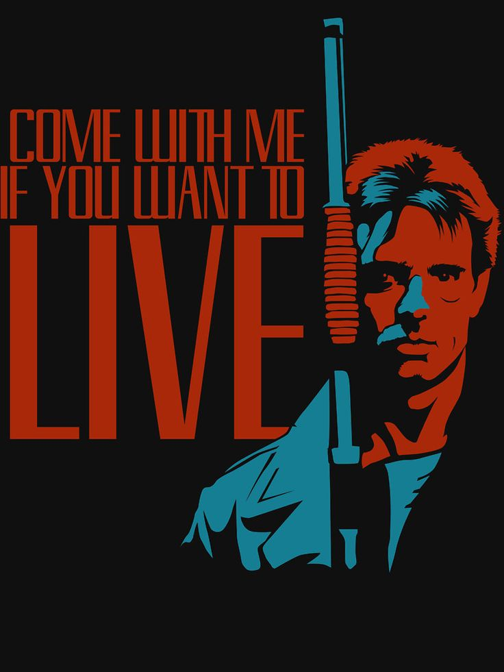 The Terminator ......Come with me if you want to live. Kyle Reese - fan art find.