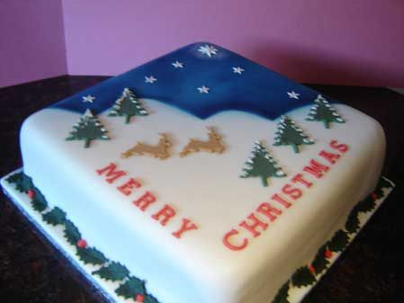 Images Of Christmas Cake Designs