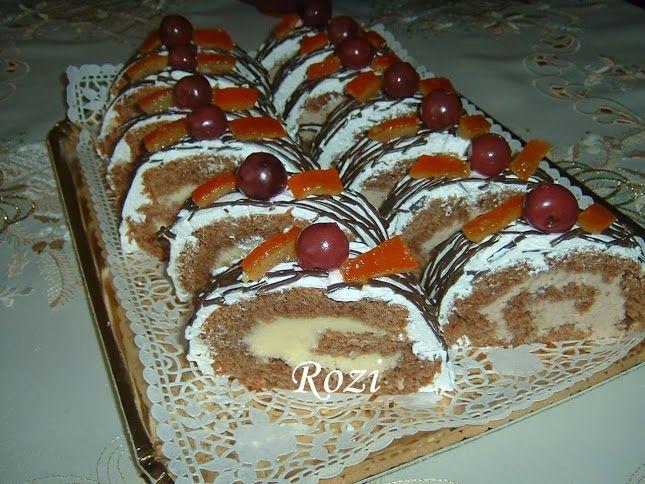 Rozi Erdélyi konyhája: Kókuszos-gesztenyés piskóta tekercs
