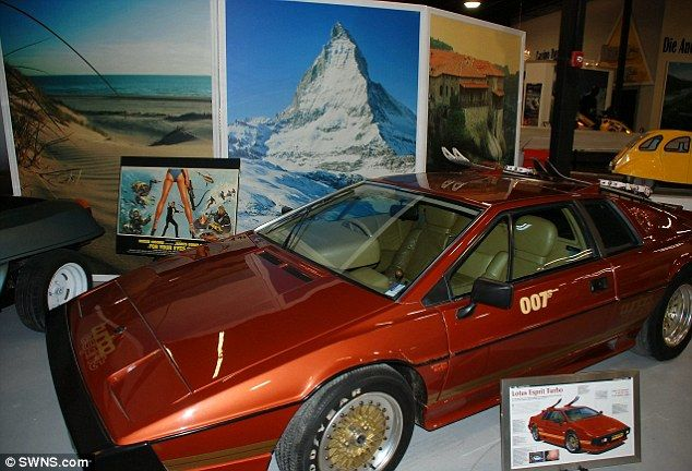 Thriller: James Bond's Lotus Esprit turbo with skis was featured in For Your Eyes Only...
